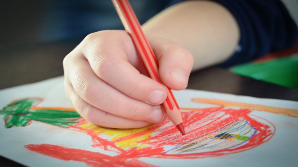 colouring important to children